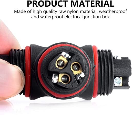 2-Pack La Vane 2 Way IP68 Waterproof 3 Pin Cable Connector External Sleeve Coupler for /Ø 2-8mm Cable Range 2 Way IP68 Waterproof Junction Box Outdoor Cable Connector