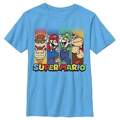 ce7879eb5dce59 Amazon.com  Nintendo Boys  Super Mario Characters in Stripes T-Shirt ...