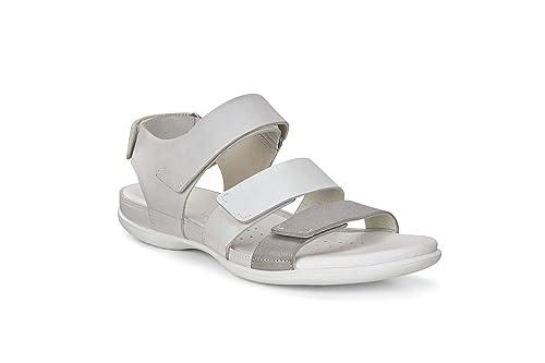 Ecco Komfort Sandalen blau SOFT 5 SANDAL Glattleder Damen