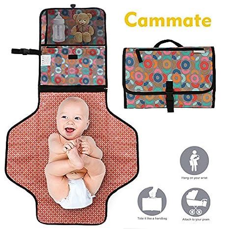68b9cdcaf cammate pañal cambiador portátil con almacenamiento por willcare viajes  bolso cambiador de pañales para bebé regalo