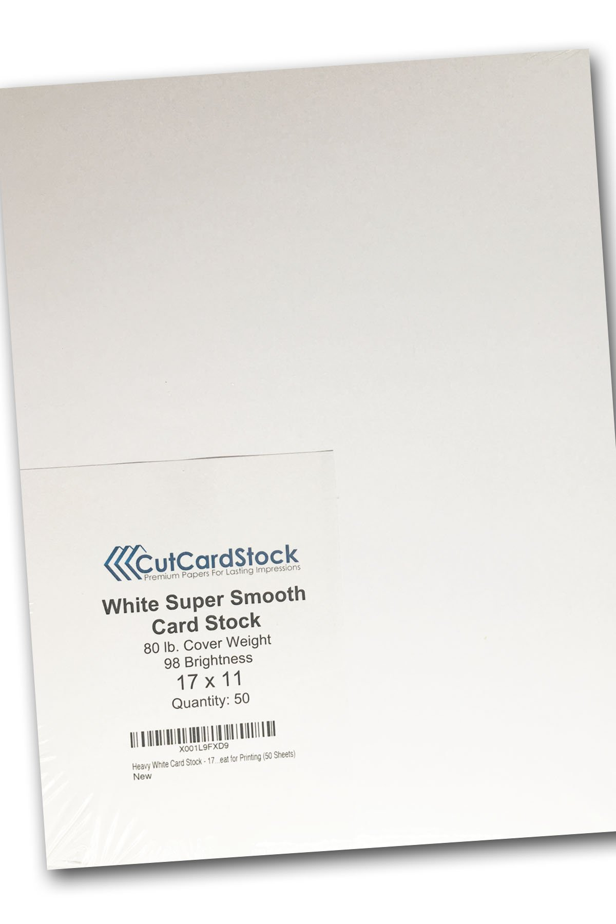 Heavy White Card Stock - 17'' x 11'' Premium 80 Lb. Cover Super Smooth - Great for Printing (50 Sheets)