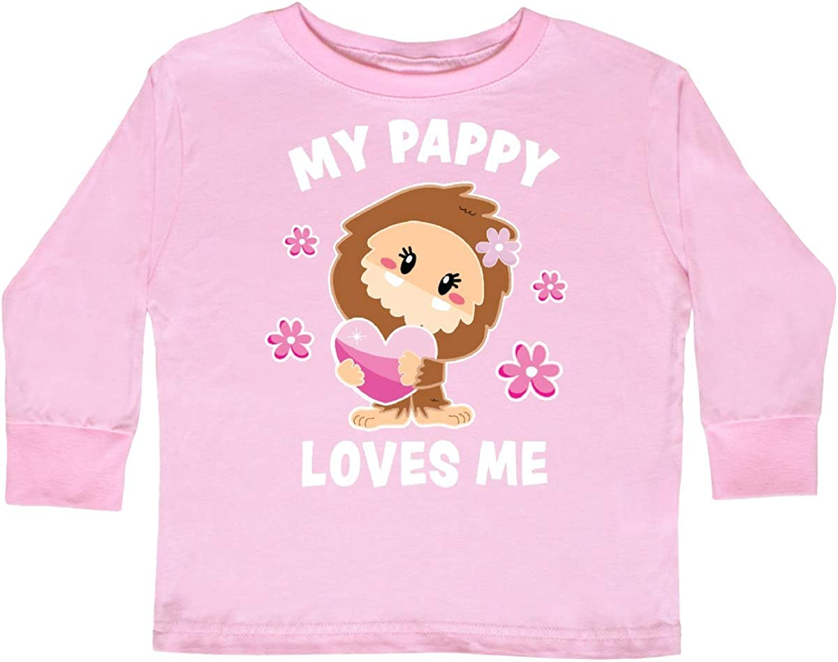 inktastic My Pappy Loves Me with Bigfoot Toddler Long Sleeve T-Shirt