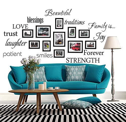 WONZOM Family Words Wall Decal Set Love Trust Blessing Smile Wall Sticker...