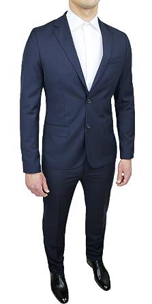 fc3025f93096d Abito completo uomo Sartoriale blu scuro slim fit nuovo elegante cerimonia  taglie da 44 a 60