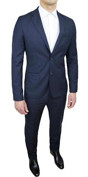 44bda7e7b0200b Abito completo uomo Sartoriale blu scuro slim fit nuovo elegante cerimonia  taglie da 44 a 60