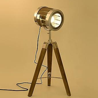 American Retro Schreibtischlampe Alte Handwerk Holz Stativ