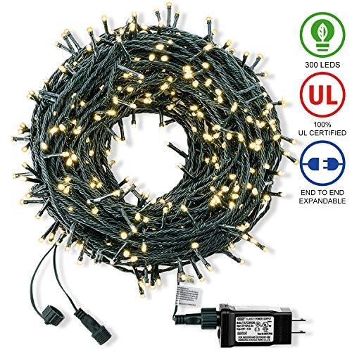 ROYAMY Christmas String Lights 300 LED 105ft,Warm White