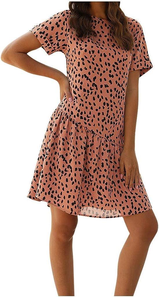 AMhomely Women Dresses Sale Women Long Sleeve Maple Leaves Print Button Bandage Waist Casual Mini Dress Plus Size Dress Party Elegant Dress Vintage Dress UK Size S XXXXL