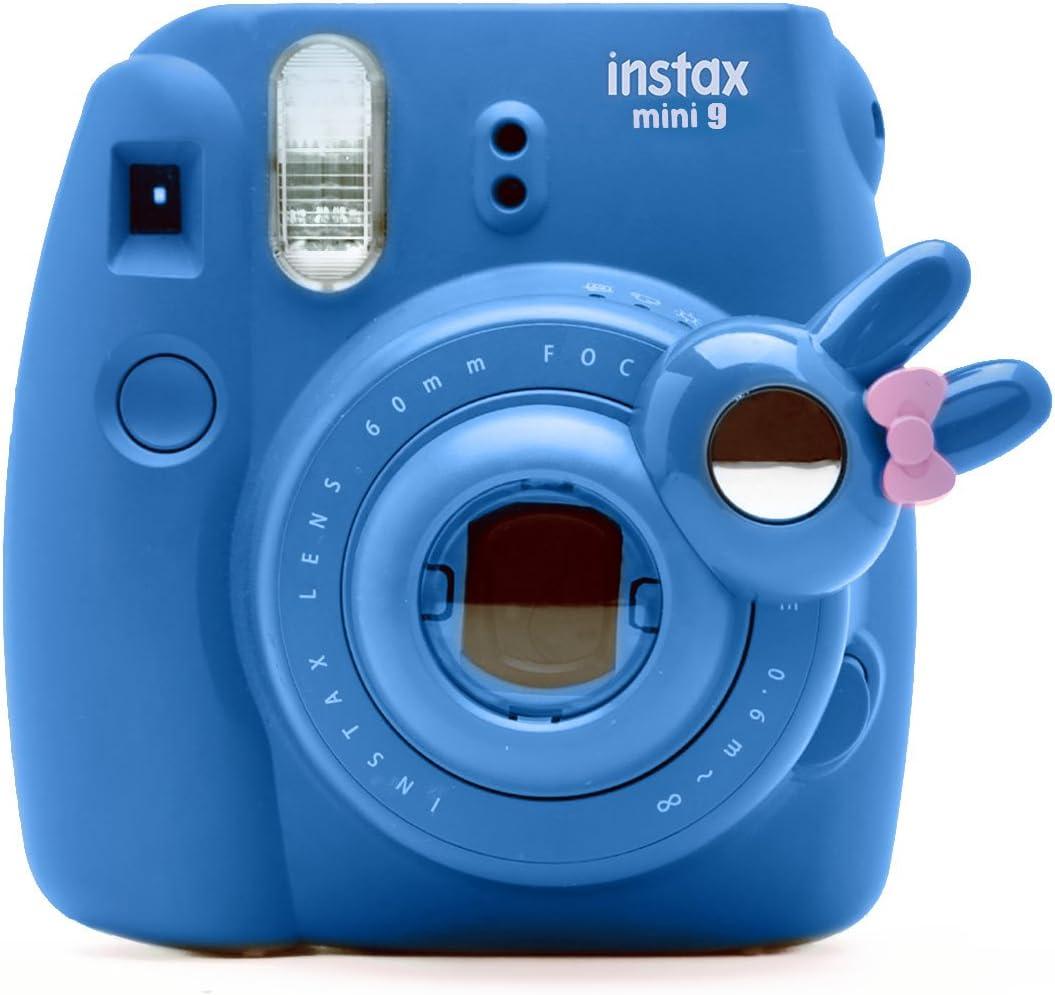 Cute Bunny Selfie and Close Up Lens Shot Mirror for Fujifilm Instax Mini9 Mini 8 Mini14s Hellokitty Instant Camera (Cobalt Blue)