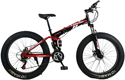 KOSGK Bicicleta MontañA Plegable Acero 26 Bicicletas Unisex ...