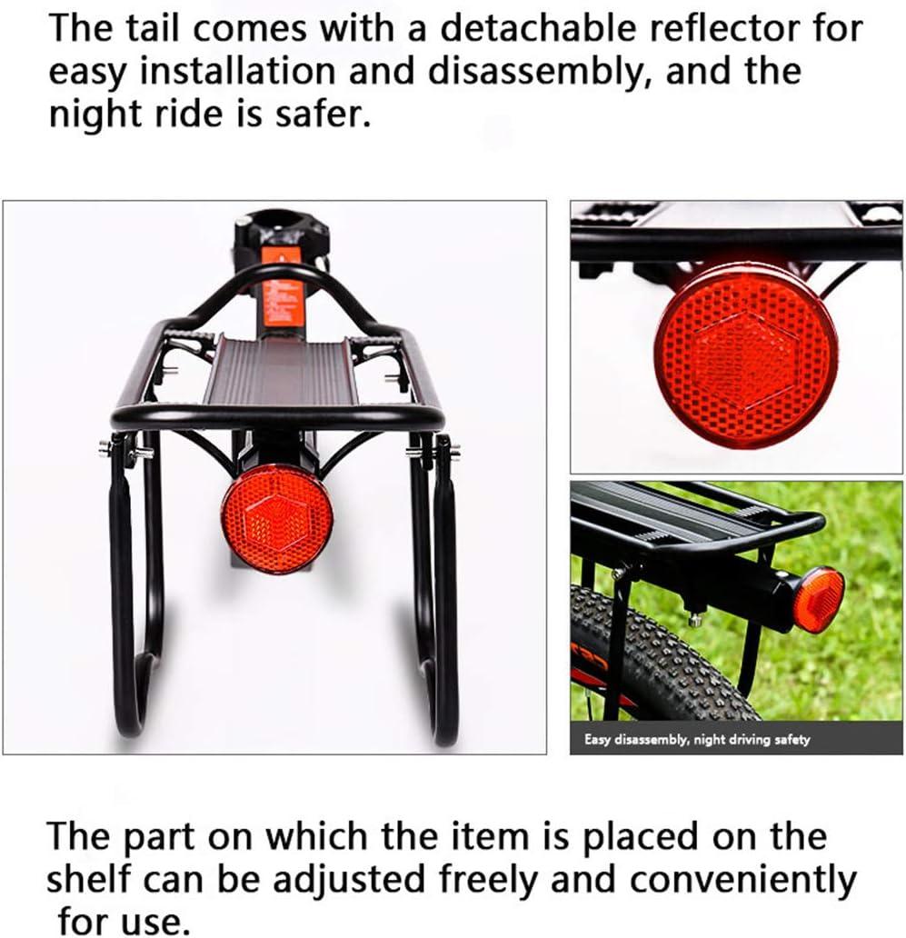 POXL Portaequipajes Bicicletas Trasero para MTB Ajustables Aluminio Portaequipajes Bici Bicicleta Rack Capacidad MAX 50Kg