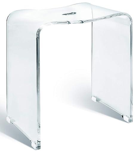 Libaro Meran Tabouret de Bain en Acrylique Transparent pour ...