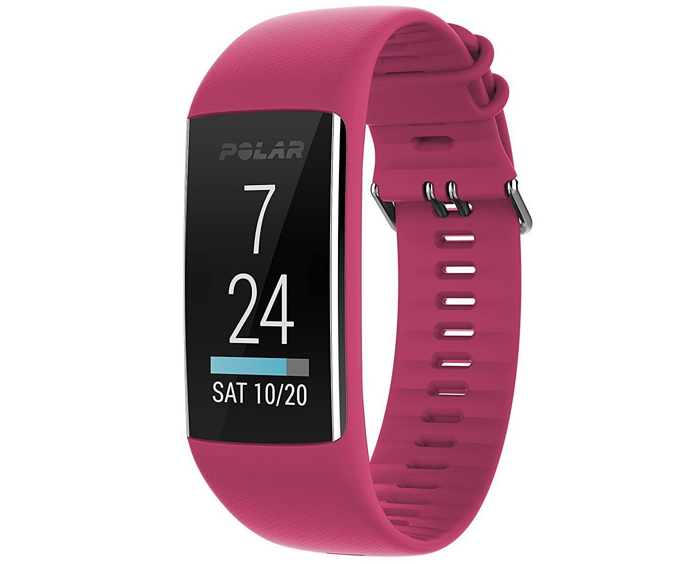 Polar A370 Fitness Tracker with 24/7 Wrist Based Heart Rate Monitor, Pink, Small by Polar