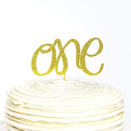 Adorno para tarta de cumpleaños con número de purpurina para ...