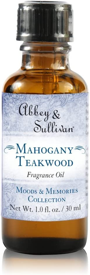 Abbey & Sullivan Fragrance Oil, Mahogany Teakwood, 1 oz.