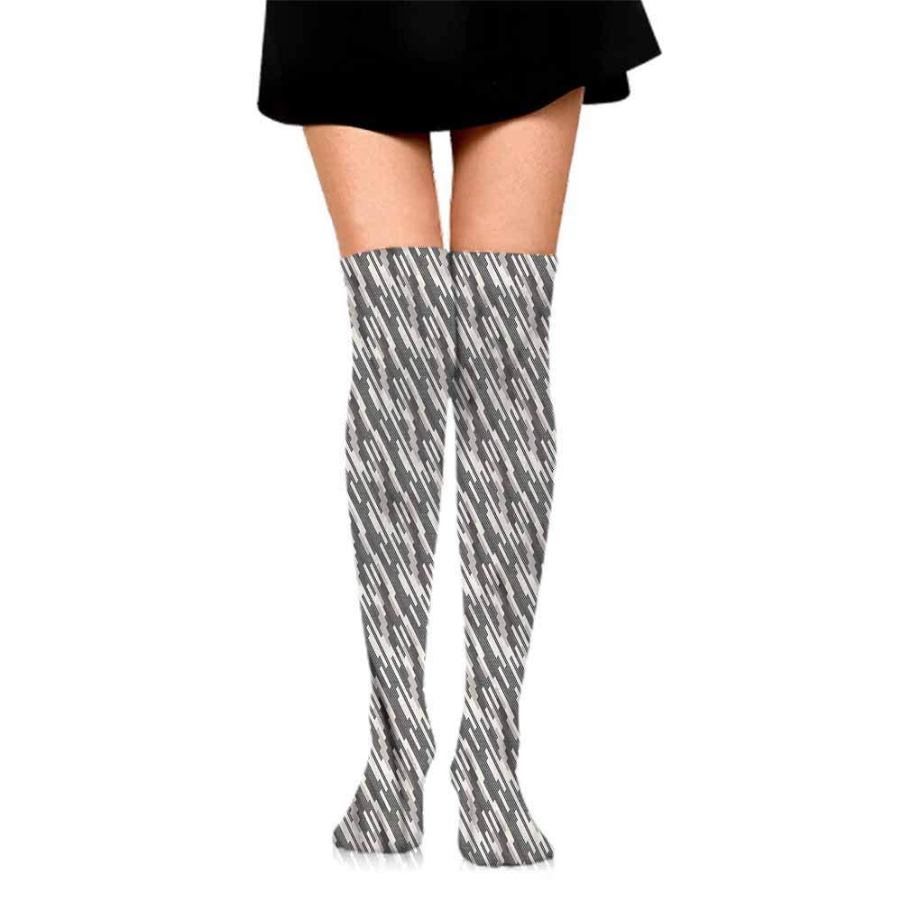 thin Silk socks Abstract,Modern Art Stripes,socks men pack black
