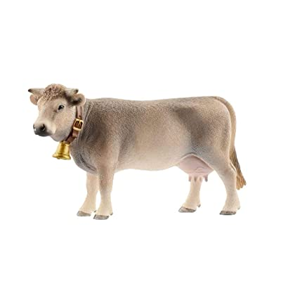 Schleich North America Braunvieh Cow: Toys & Games