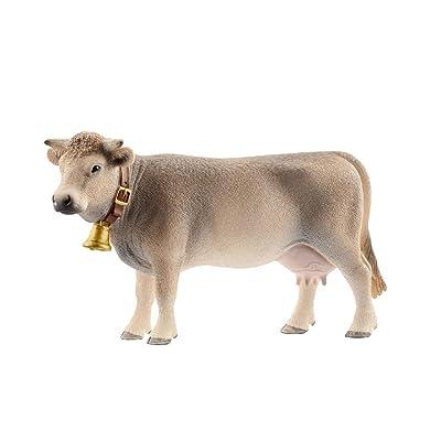 Schleich North America Braunvieh Cow: Toys & Games [5Bkhe0801244]