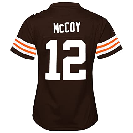 15468a81c Image Unavailable. Image not available for. Color  Nike Colt McCoy  Cleveland Browns Home Brown Jersey Girls ...