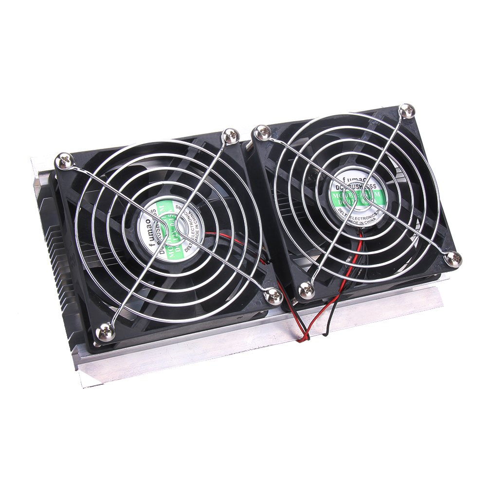 Thermoelectric Peltier Refrigeration Cooling System Kit Cooler Double Fan DIY by vanpower