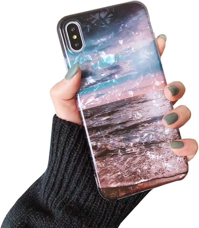 Bakicey dise/ño elegante funda para tel/éfono m/óvil de silicona suave antiara/ñazos Funda para iPhone Xr ultrafina Blaue Kleine Liebe Talla /única antigolpes