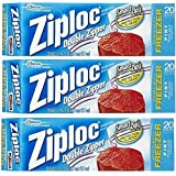 Ziploc Freezer Bag, Pint, 20-Count (Pack of 3)