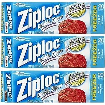 Amazon Com Ziploc Freezer Bags Pint 80 Count Health