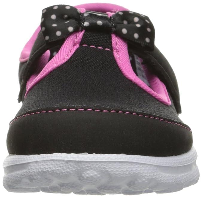 Skechers Go Walk Bitty Bow, Chaussures de Sport Fille, Black (Black Hot Pink), 28 EU