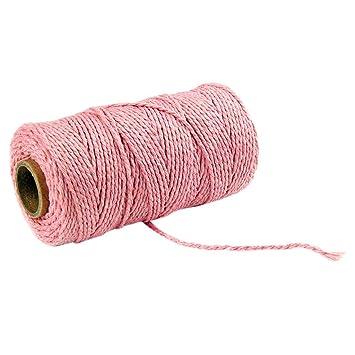 100 m de largo/100 Verges cordón Trenzado en algodón Puro artesanía de Cuerda macramé Cuerda ...
