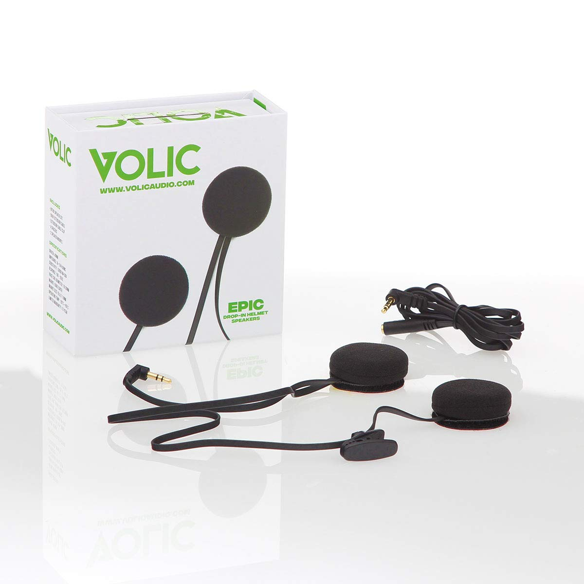 Volic Epic Drop-in Wired Helmet Speakers for Motorcycles, Snowboarding, Mountain Biking, Skiing, Bikes, Sports and More