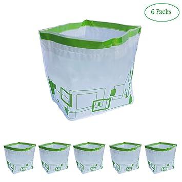 Amazon.com: Bolsas de basura con cordón de 8 galones, bolsas ...
