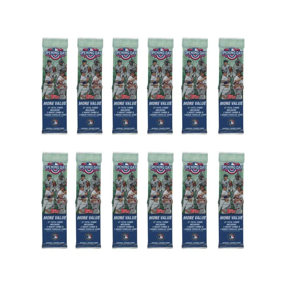 2015 Topps Opening Day Baseball Rack Pack 12-Pack Lot