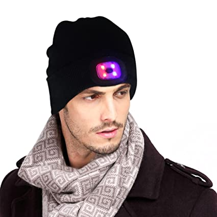 7a96be86928ffc Ultra Bright LED Hands Free Unisex Lighted Beanie Power Stocking Cap/Hat -  12000MCD of