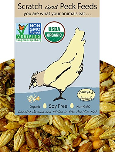 - Naturally Free Organic Grower Feed for Chickens and Ducks, 25lbs, Non-GMO Project Verified, Soy Free and Corn Free
