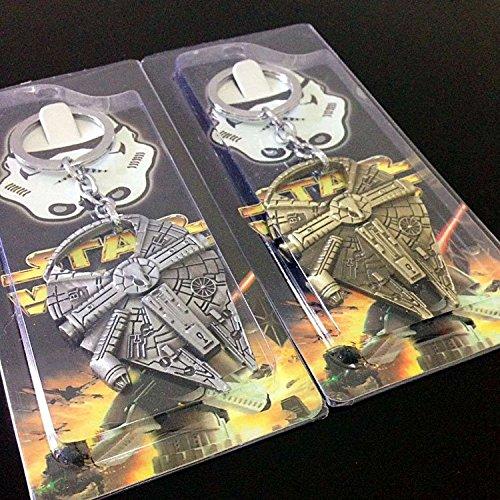 Zs New Star Wars Millennium Falcon Metal Alloy Bottle Opener /& Keychain Non-magnetic Opener 2.8 Millenium Falcon001 Gray