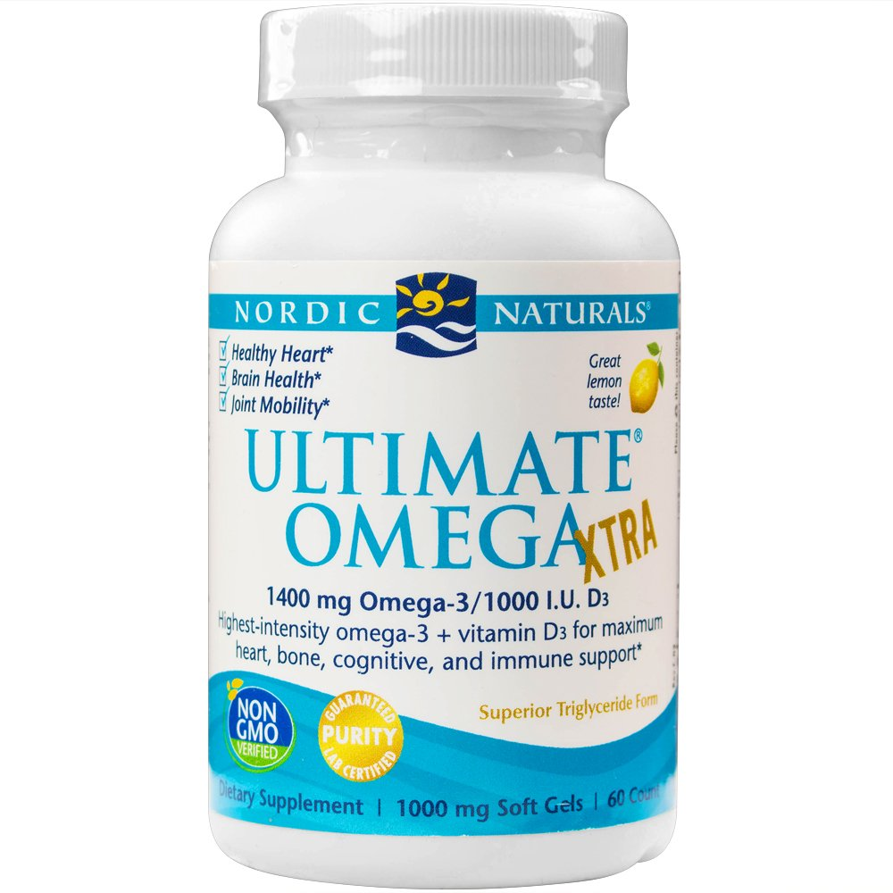 Nordic Naturals - Ultimate Omega Xtra, Support for a Healthy Heart, 60 Soft Gels (FFP)