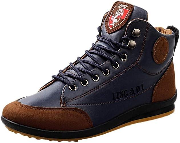 et Automne Chaussures Homme Sport Homme en Zzzz de Style Britannique Chaussure Vintage Hiver Chaussures Cuir Bottes Chaussures 8nkPOw0
