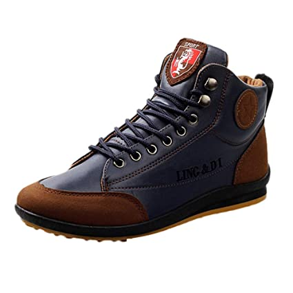 c6f1a3c12758 Amazon.com  Clearance Sale! Teresamoon Men s Shoes Leather Boots ...