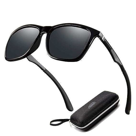 Perfectmiaoxuan Gafas de sol para hombre mujer polarizadas/Ciclismo El golf Conducción Pescar Alpinismo Gafas vintage/Deportes al aire libre gafas de ...