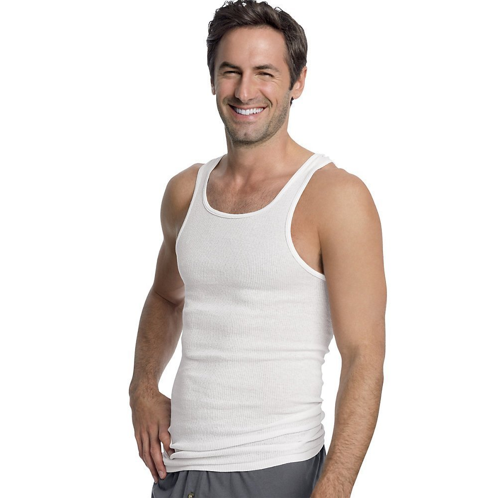 Hanes Men's White A-Shirt 3-Pack 372