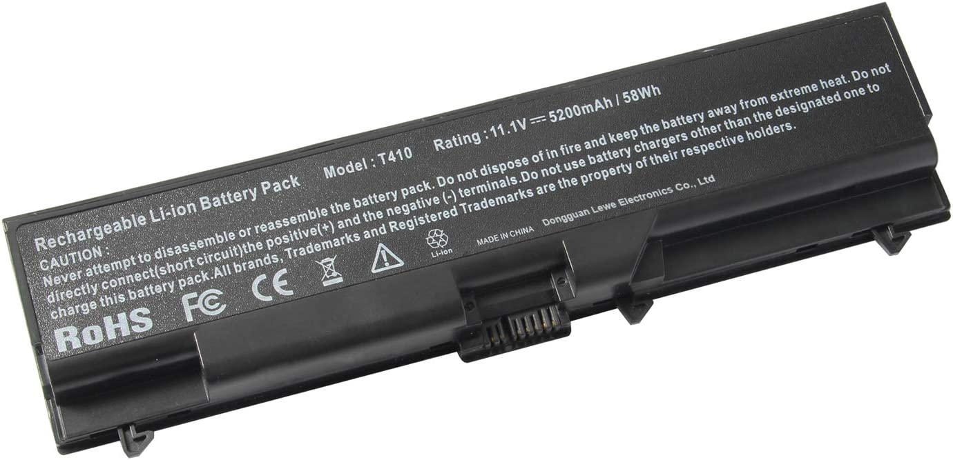 "Battery for Lenovo ThinkPad E40 E50 E420 E425 E520 E525 L410 L412 L420 L421 L510 L512 L520 SL410 2842 SL510 T410 T410i T420 T510 T520 W510 W520 ThinkPad Edge 14"" 05787UJ 05787VJ 05787WJ 05787XJ"