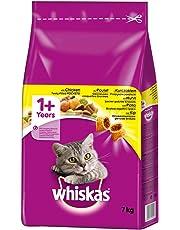 Whiskas Katzen-/Trockenfutter 1+ für Katzen mit Huhn