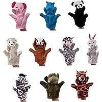 10st Dieren Handvertelpoppen Set Plush Dieren Hand Puppet Cartoon Animal Pluche Handpop Interactive Puppet Handschoenen…
