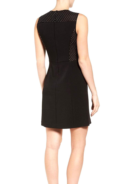 7f160540cf815 Michael Michael Kors Studded Mesh Side Sleeveless Dress (Black) (14) at  Amazon Women s Clothing store