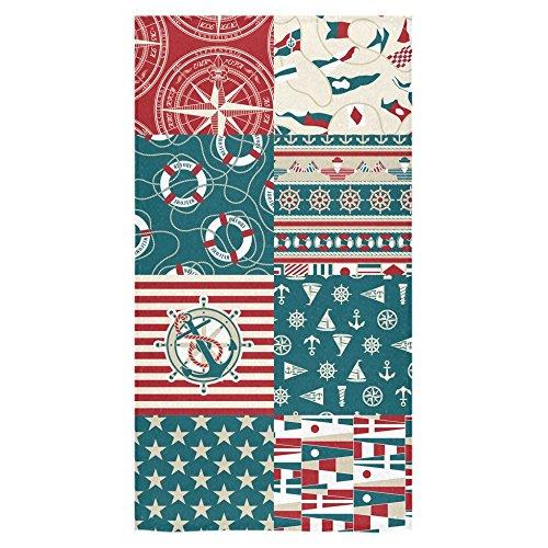ADEDIY Fashion Custom Towel Ocean Lover Nautical Anchor and