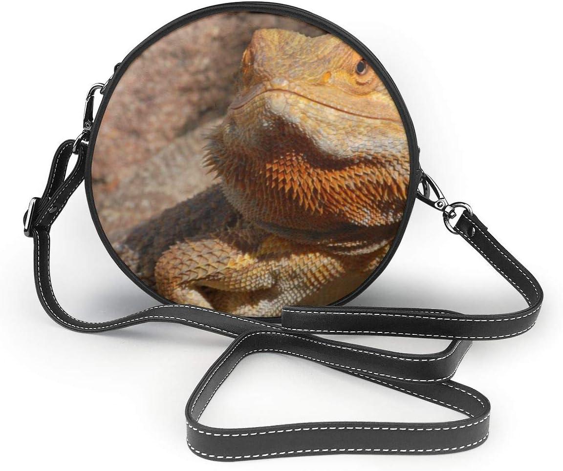 Crossbody Shoulder Bearded Dragon Lizard Leather Sling Bag /& Women/'s Handbag