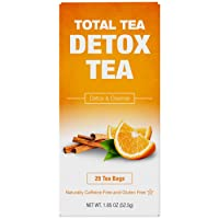 Total Tea Caffeine Free Detox Tea - All Natural - Slimming Herbal Tea for Gentle...
