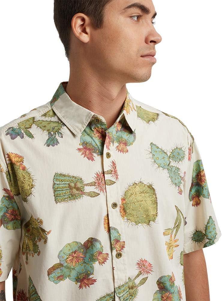 Burton Shabooya Camp SS Camisa Cactus para hombre, Cactus, L ...