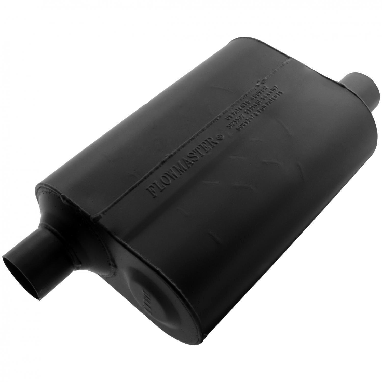 2.25 Offset IN Flowmaster 952448 Super 40 Muffler Aggressive Sound 2.25 Offset OUT