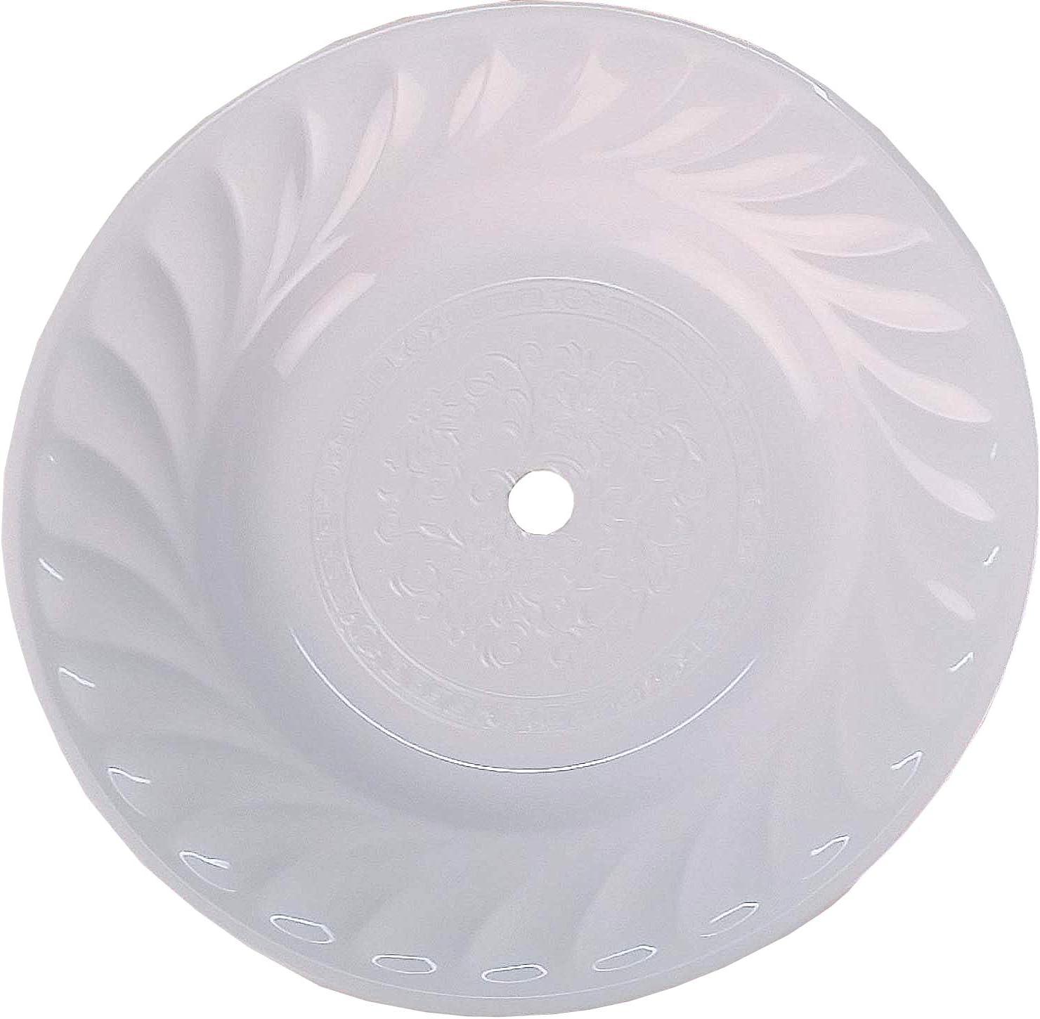 Caesar Plato de carbón XXL para cachimba (39 cm), color blanco
